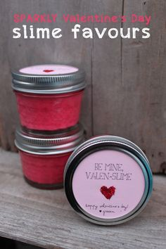 Sparkly Valentine s Day Slime Favours