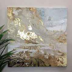 Coastal Path - Wall Canvas with Gold Leaf from The Farthing