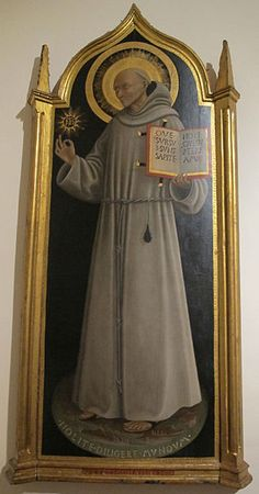 Pietro di Giovanni d'Ambrogio (1410 - 1449), San Bernardino, c. 1444, Siena, Pinacoteca Nazionale Siena, Jelsa, Masters, Decor, Painting, Master's Degree, Decoration, Painting Art, Dekoration