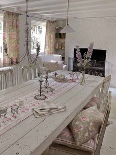 Dining Room Table - textiles from Dotty Brown