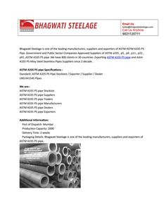 Astm a335 p5 pipe