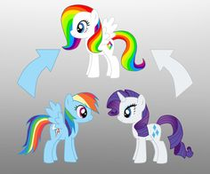 Pony Fusion: Rainbow Dash And Rarity by Willemijn1991 on DeviantArt