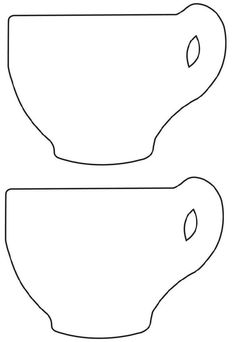 Teapot pattern. Use the printable outline for crafts