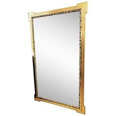 Deco Inspired 1980s Gold & Tiger Print Wall Mirror ($795) ❤ liked on Polyvore featuring home, home decor, mirrors, full-length & floor mirrors, colored mirrors, gold wall mirror, inspirational home decor, gold mirror and full length mirror