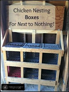Chicken Coop - How to build nesting boxes for your chickens using materials you have around your farm for next to nothing! Building a chicken coop does not have to be tricky nor does it have to set you back a ton of scratch. Chicken Coop Designs, Chicken Coop Kit, Chicken Boxes, Chicken Nesting Boxes, Chicken Garden, Backyard Chicken Coops, Building A Chicken Coop, Chickens Backyard, Chicken Runs