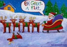 A Flat - Must remember to put this up at the tire shop this winter!