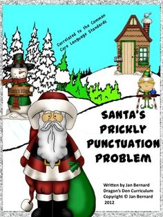 Use Santa to help your students learn language skills this holiday season. This Freebie includes a five page read-aloud story about Santa's punctua. Teaching Language Arts, Teaching Writing, Teaching Resources, Teaching Ideas, Teaching Grammar, Academic Writing, Writing Lessons, Writing Ideas, Reading Activities