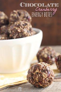 Chocolate Cranberry Energy Bites | MyBlessedLife.net