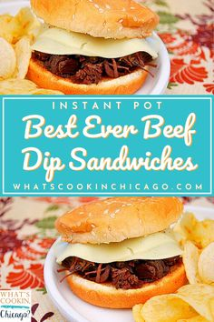 Beef Chuck Roast, Beef Dip, Pressure Cooking Recipes, Beef Sandwich, French Dip, Beef Broth, Recipes For Beginners, Soy Sauce