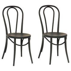 Emery Metal Bistro Chair (Set of 2) - Threshold™ : Target