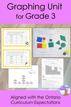 This data management unit for Grade 3 contains lesson ideas, worksheets, task cards, and a test. It is based on the Ontario Curriculum expectations.