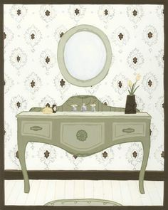 Parisian Bath II Art Print Poster by June Erica Vess Online On Sale at Wall Art Store – Posters-Print.com