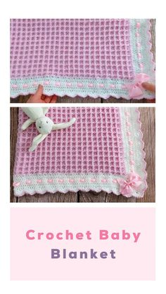 Baby Girl Crochet Blanket, Crochet Baby Blanket Free Pattern, Crocheted Baby Blankets, Crochet Baby Blanket Beginner, Manta Crochet, Baby Knitting, Start Knitting, Crochet Projects, Knitting Patterns
