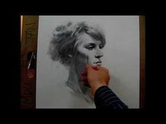 A 4:47 minute time-lapse video of a 60 minute live portrait drawing session (vine charcoal/additive& subtractive processes) by Zimou Tan - YouTube