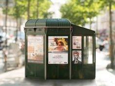 Paris présente ses kiosques à journaux du XXIe siècle