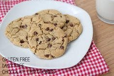 "Gluten Free, Dairy Free, Soy Free Chocolate Chip Cookies ~ I couldn't believe how they look and taste like ""regular"" cookies!  Amazing!"