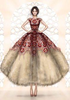 Fashion meets Art #sketch #drawfashion
