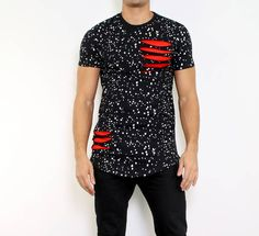 Black spotted longshirt #spotted #inked #longshirt #black #mensfashion #fashion #urban #fashionista #clothing #men #dope #dopedfashion
