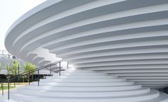 Possibly the best place in the world to be delayed for a train, the CoFuFun station plaza at Tenri Station in Japan, designed by Nendo, is an upbeat urban intervention and a new community hub for Tenri City in Nara prefecture. Designed like an over-siz...