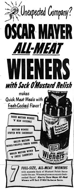Unexpected company?  How rude of them!  Toss em a bag of weiners and a sack' o mustard.  That'll teach them to just show up at your doorstep at dinnertime trying to weasle a free meal.
