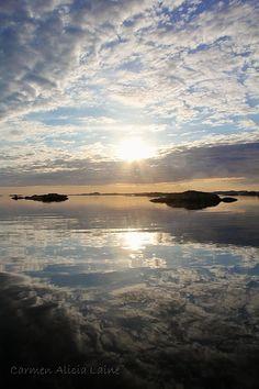reflejos en Austevoll Norway, Celestial, Sunset, Southern, Travel, Outdoor, Beauty, Small Island, Islands