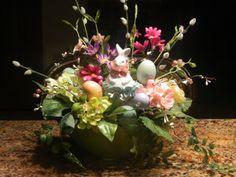 Bunny Floral Arrangement.   Spring and Easter
