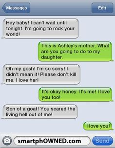 funny text messages | Funny Things to say - SmartphOWNED
