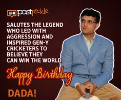 Postpickle wishes Former Indian Cricketer Sourav Ganguly a very Happy Birthday! #HappyBirthday #HappyBirthdayDada #SouravGanguly