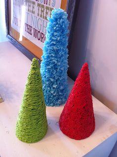 Done Over Decor: Tissue Paper Cones