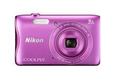 Nikon COOLPIX S3700 Digital Camera with 8x Optical Zoom and Built-In Wi-Fi