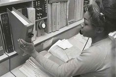 Directory Enquiries operator, Putney Telephone Exchange. 1969.