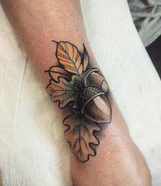 Acorn tattoo