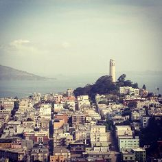 Built in 1933, Coit tower lies at the very top of Telegraph Hill and has become a featured landmark. Serving as a memorial for the fallen firefighters who fought the 1906 earthquake fires. Some say that the tower is designed purposely in the shape of a fire hose nozzle.