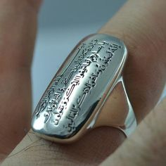 Sterling Silver Amulet Ring Men Woman Unisex Islamic Ring for Tungsten Wedding Bands, Wedding Ring Bands, Chanel Fine Jewelry, Men's Jewelry, Jewellery, Mens Silver Rings, Sterling Silver Rings, Dua For Evil Eye, Gold Plated Rings