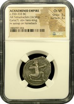 Persian Silver Tetradrachm NGC Choice Very Fine Coining, Achaemenid, Gold And Silver Coins, Silver Bullion, Silver Prices, Rare Coins, Persian, Empire, Surface