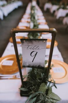 Industrial Modern Warehouse Venue Galvanized Pipe Table Number