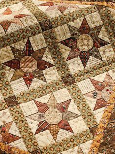 This type of quilt patterns is certainly an amazing design concept. Star Quilt Blocks, Star Quilt Patterns, Star Quilts, Scrappy Quilts, Quilting Ideas, Country Quilts, Amish Quilts, Hexagon Quilt, Hexagons