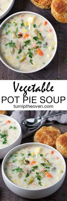 Vegetable Pot Pie Soup