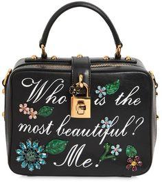Hand Painted Leather Soft Dolce Bag  DolceGabbana  DG  handbags   designerhandbags  purse  clutch  designerbags bitinformed.com f710d2ed46