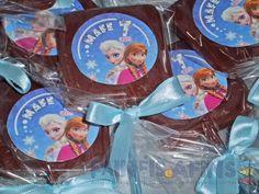 Pirulitos de chocolate personalizados #frozen