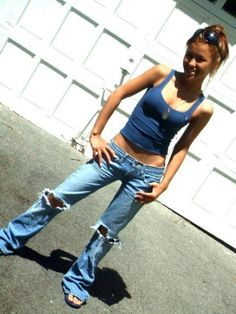 I loved jeans and tank tops when I was in high school. Motivation right here now
