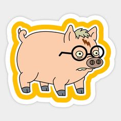 Shop Harry Plopper pig stickers designed by Hounds_of_Tindalos as well as other pig merchandise at TeePublic. Harry Potter Planner, Harry Potter Diy, Drawing Flames, Stickers Cool, Classic Cartoon Characters, Homemade Stickers, Grafiti, Wallpaper Stickers, Animated Cartoons