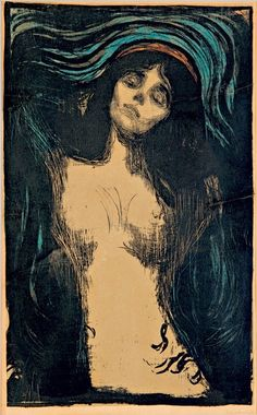 Edvard Munch (1863-1944), Madonna, 1896-1902. lithograph in five colours, 60.5 x 44.7 cm