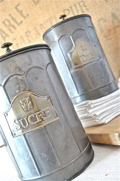 French Vintage Canister Set by MademoiselleTresors on Etsy, $75.00