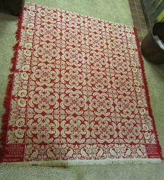 Antique Signed Red White Jacquard Coverlet 1836 John Kittenger Springfield Ohio | eBay