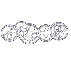 """doctor who quotes Doctor who quotes in circular gallifreyan from left to right: war doctor """"No more"""" 9th """"fantastic"""" 10th """"allons-y"""" 11th """"Geronimo"""" 12th """"I am Scottish"""" available as t-shirts, prints, bags and much more at http://www.redbubble.com/people/rebeccamcgoran"""