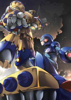 X vs. the General Cry Anime, Anime Fnaf, Anime Art, Akira, Drawing Games, Comic Drawing, Mega Man, Dino Crisis, Maverick Hunter