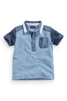 Buy Short Sleeve Blue Colourblock Polo (3mths-6yrs) from the Next UK online shop