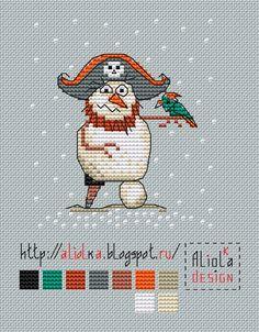 My tvorilki *** Aliolka design: snow pirate #freecrossstitch