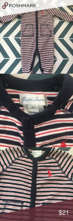 0cedb5c546 Baby Boy Ralph Lauren sleeper 6 months Like new condition! Worn once! Very  comfy